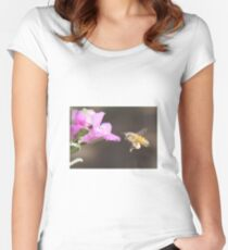 Bee Pollination  Women's Fitted Scoop T-Shirt