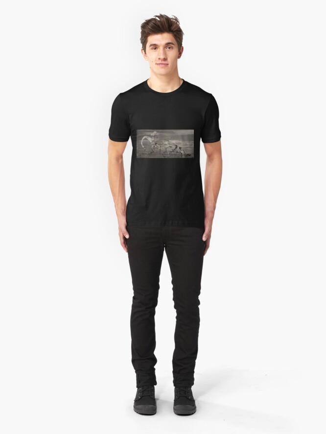 Alternative Ansicht von MM - 0004 - The Harvest Wheel A Slim Fit T-Shirt