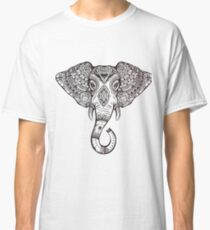 Vintage ornate ethnic elephant with tribal ornaments. Classic T-Shirt