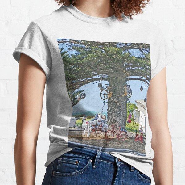Bicycle tree, Beachport, South Australia Classic T-Shirt