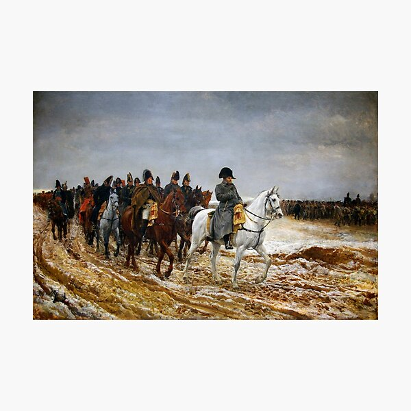 Napoleon Returning From Soissons After The Battle Of Laon Photographic Print