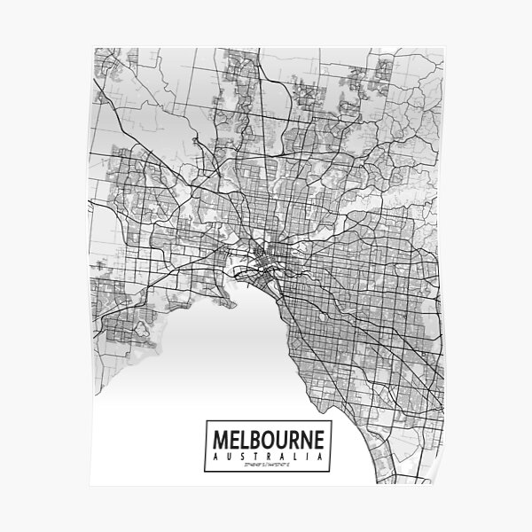 Kids map Melbourne map Illustrated map of Melbourne Decorative map Old city map print
