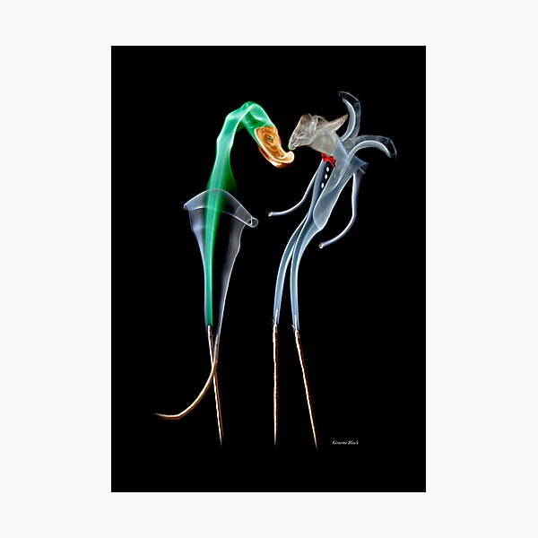 Fantasy photographic insence smoke image of Clubbers dancing Photographic Print