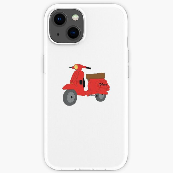 Retro - Red Vespa Scooter iPhone Soft Case