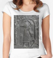 Medieval Lead Font, Dated 1150 Women's Fitted Scoop T-Shirt