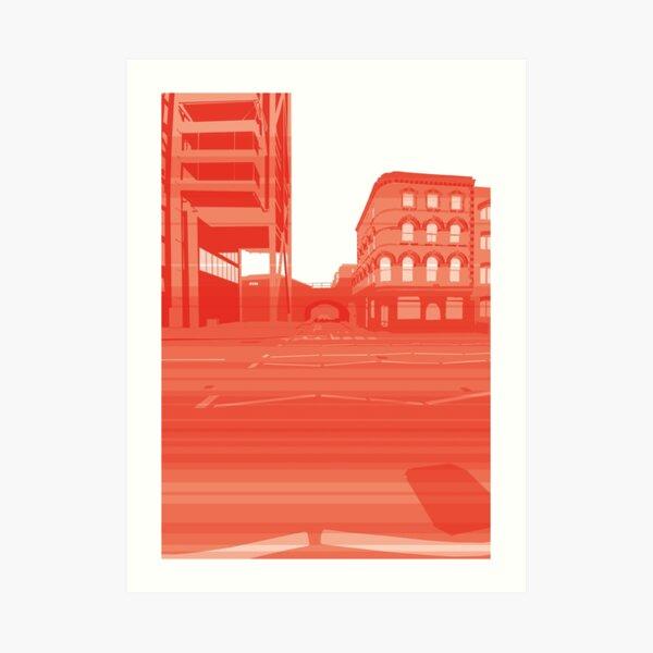 Embankment Momentum (red) Art Print