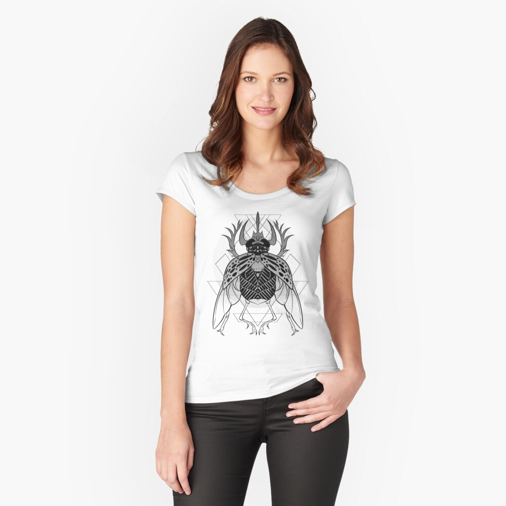 Scarab Fitted Scoop T-Shirt