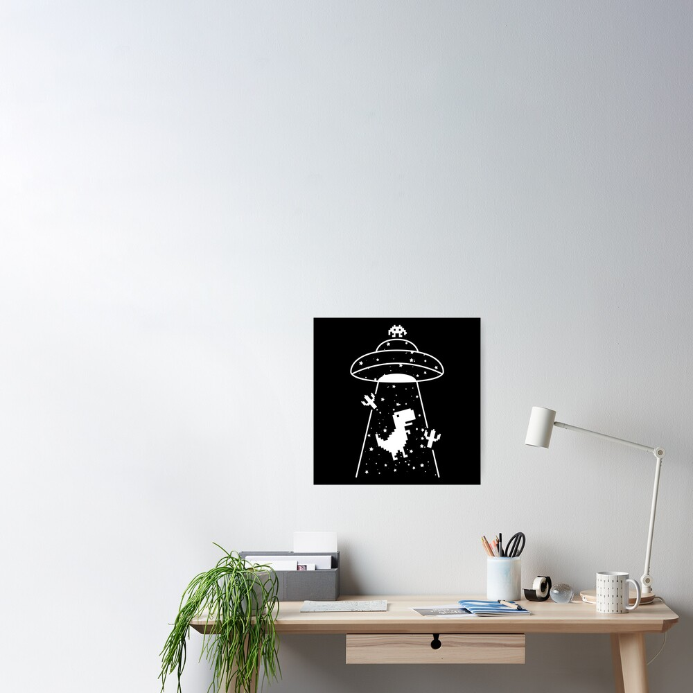 TRex Extraterrestrial UFO Abduction No Floor Poster