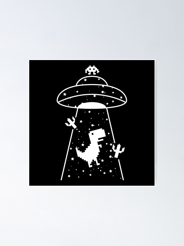 Alternate view of TRex Extraterrestrial UFO Abduction No Floor Poster