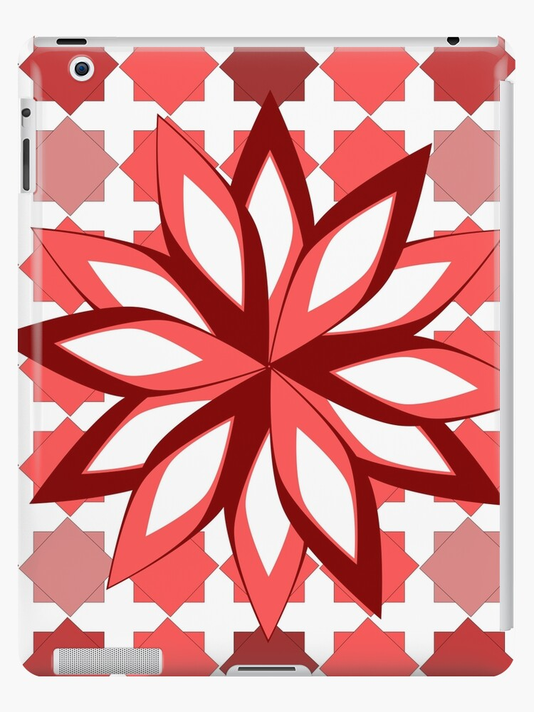 Pattern and flower in red by cocodes