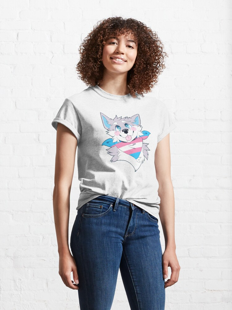Alternate view of Trans Pride Dog Classic T-Shirt