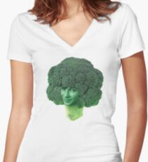 devon broccoli Women's Fitted V-Neck T-Shirt