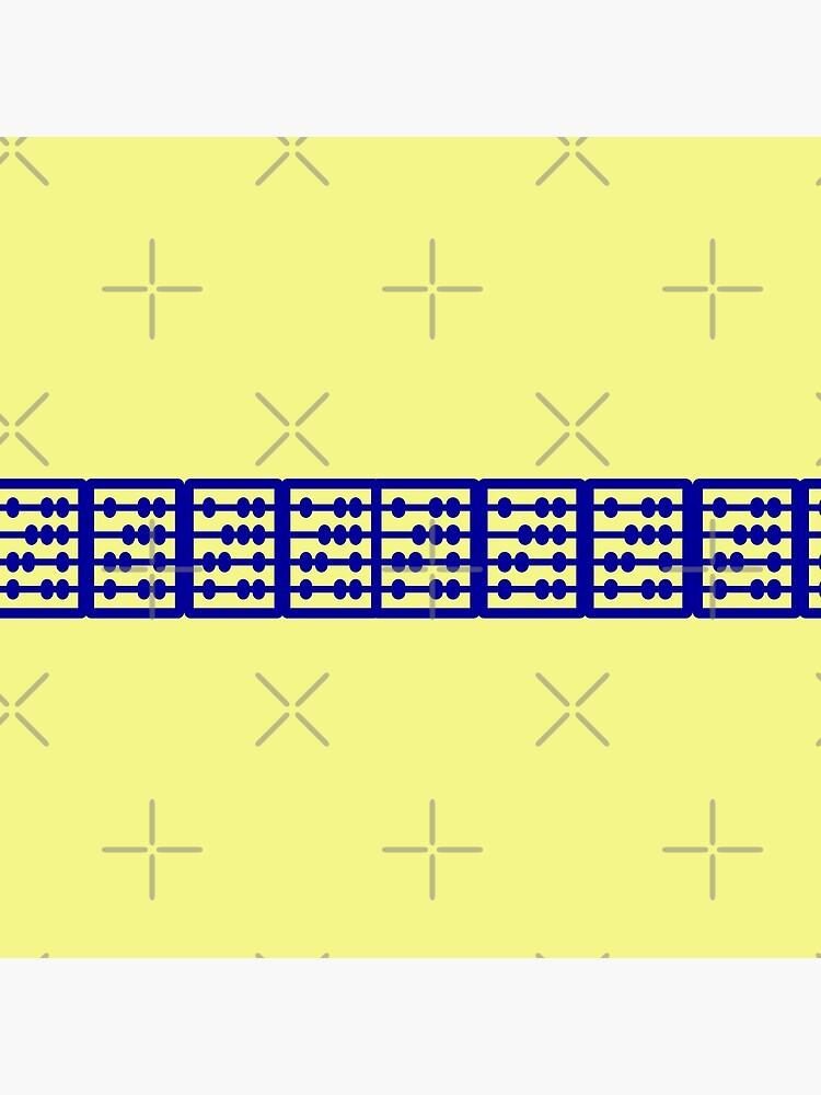 Beautiful Yellow Blue Geometric Design  by Veee8