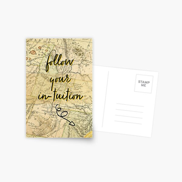 Follow Your Intuition Postcard