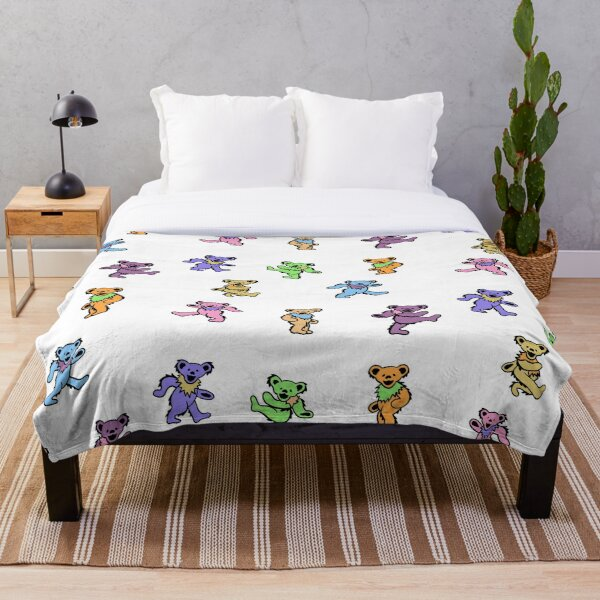 Mini Dancing Bears pastel Throw Blanket