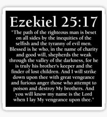 Ezekiel 25:17 - Full Passage Sticker