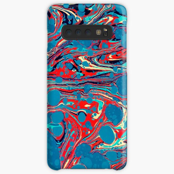 Psychedelic Blue Red Marbled Paper Samsung Galaxy Snap Case