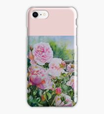 Pink Roses with Honeyeater  iPhone Case/Skin