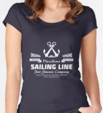 Maritime Anchor Women's Fitted Scoop T-Shirt
