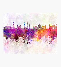 Lahore skyline in watercolor background Photographic Print