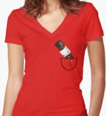 Hatty Women's Fitted V-Neck T-Shirt