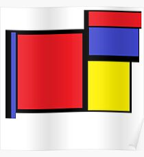 Tribute to 80's Mondrian Poster