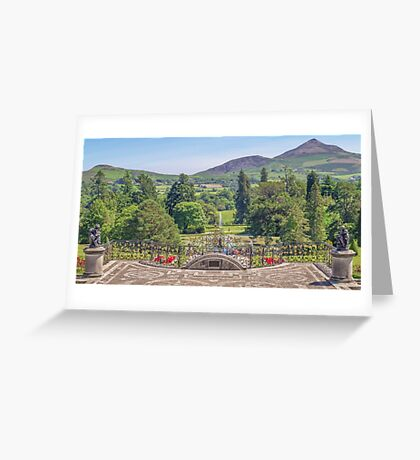 View from the Terrace - Powerscourt Estate Greeting Card