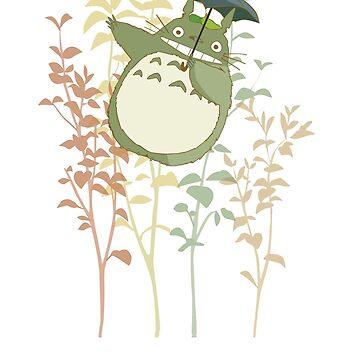 Totoro's flowers by mec900