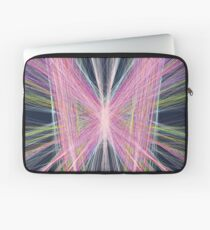 Linify Pink butterfly on dark background Laptop Sleeve