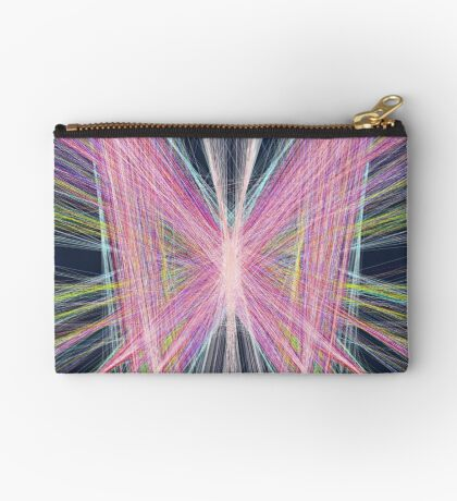 Linify Pink butterfly on dark background Zipper Pouch