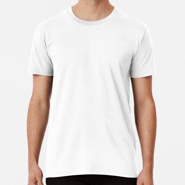 White Plain Basic Default Solid Color Premium T-Shirt