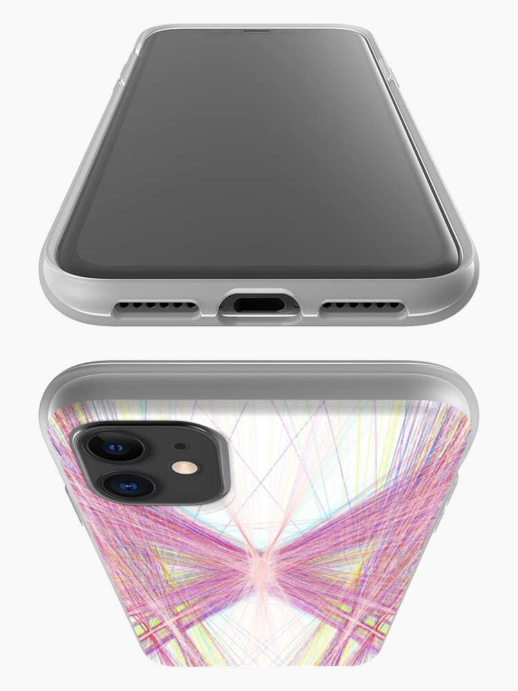 Alternate view of Linify Pink butterfly iPhone Case & Cover