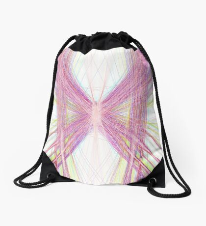 Linify Pink butterfly Drawstring Bag