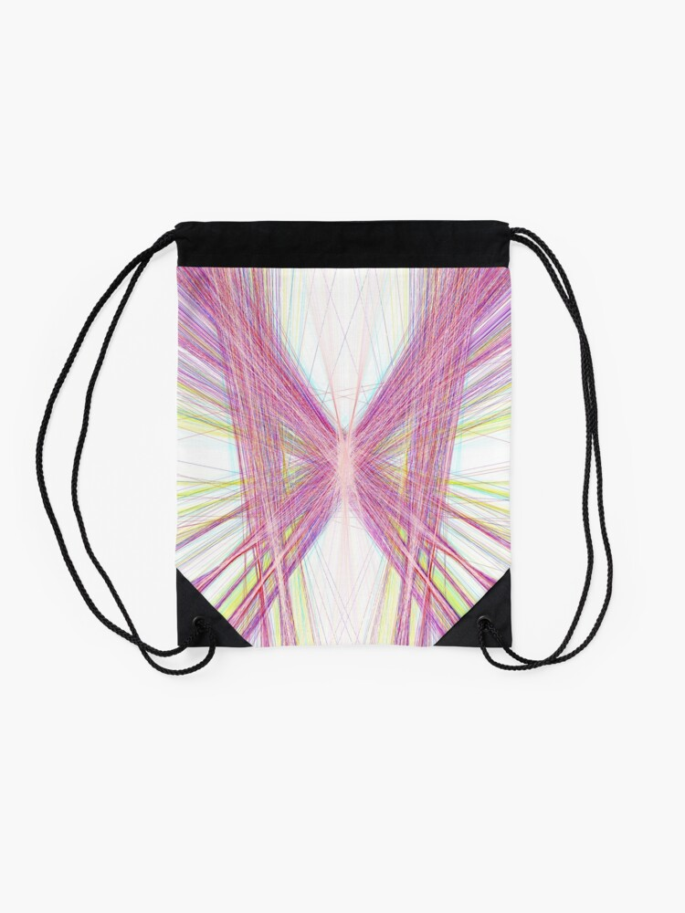 Alternate view of Linify Pink butterfly Drawstring Bag