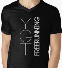 Fundamental YGTee (White Text) Men's V-Neck T-Shirt