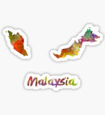 Malaysia in watercolor Sticker
