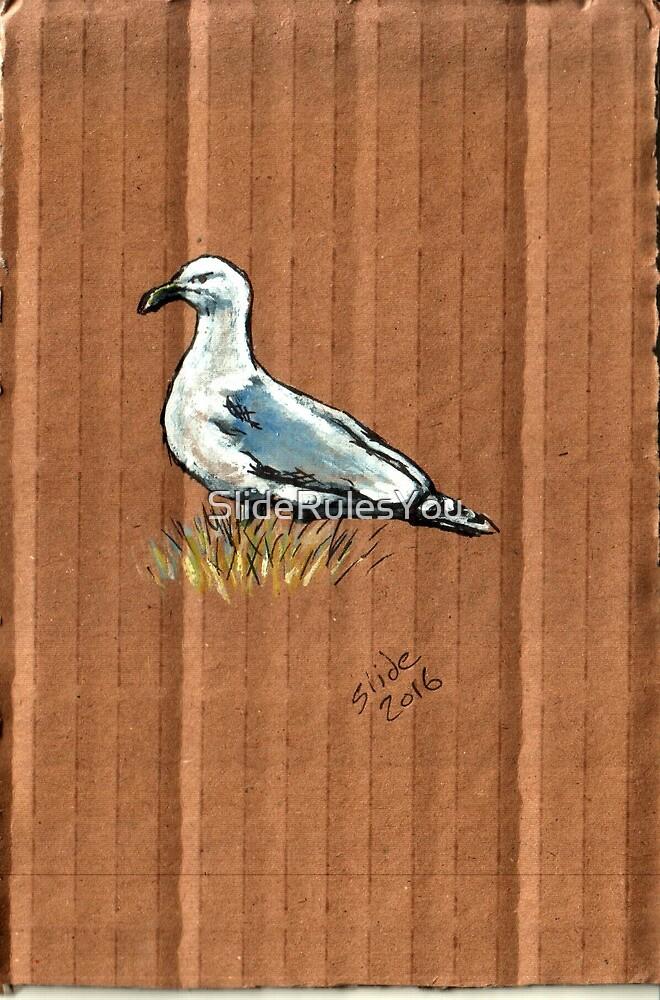 Gulls on Grass #1 by SlideRulesYou