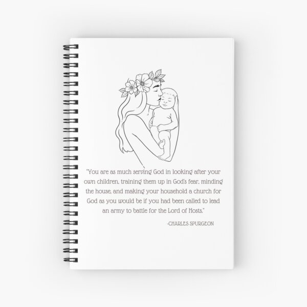 Charles Spurgeon Quote Spiral Notebook