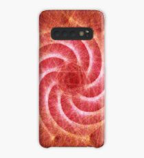 Optical lines — Red Case/Skin for Samsung Galaxy