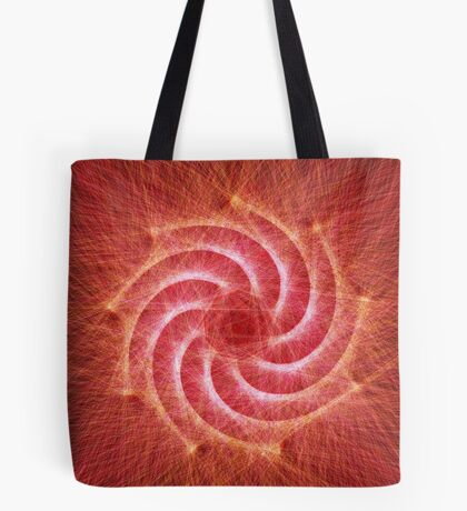 Optical lines — Red Tote Bag