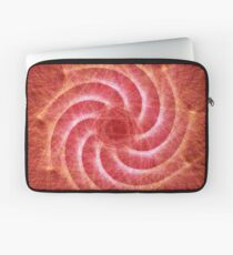Optical lines — Red Laptop Sleeve