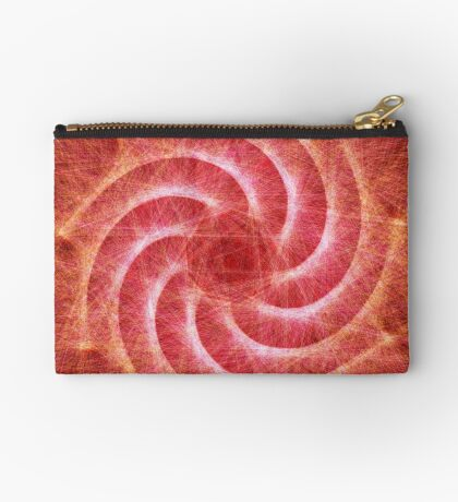 Optical lines — Red Zipper Pouch