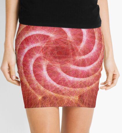 Optical lines — Red Mini Skirt