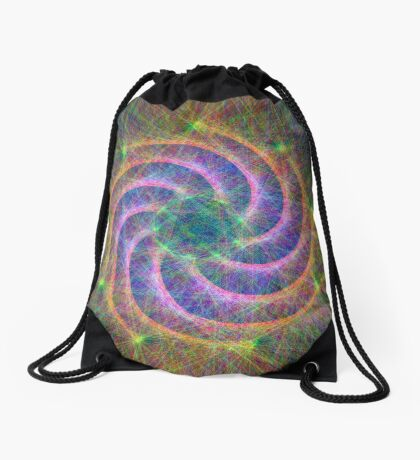 Optical lines Drawstring Bag