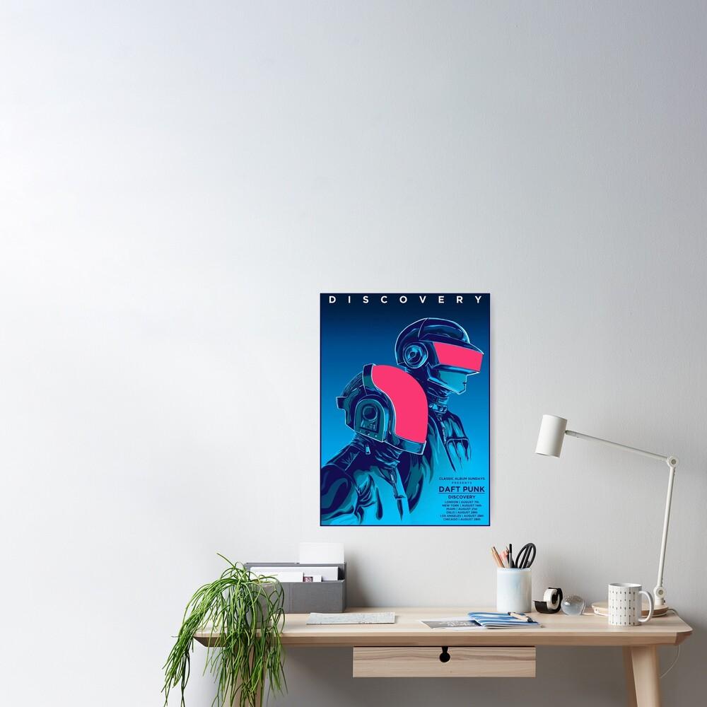 Blue Daftpunk Poster