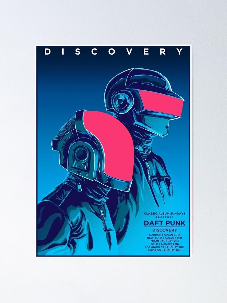 Alternate view of Blue Daftpunk Poster