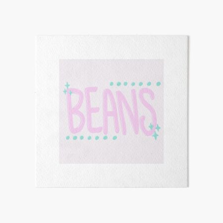 Sparkly Pink Beans Lettering Art Board Print