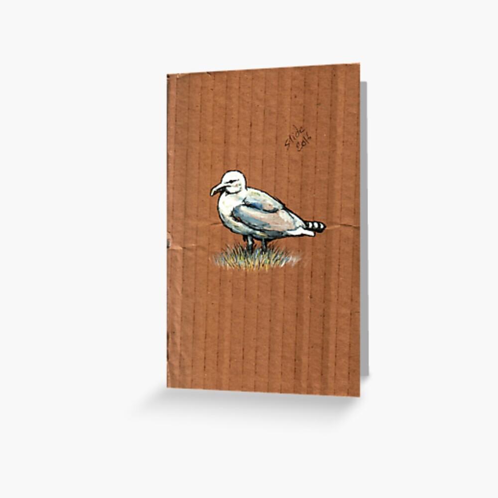 Gulls on Grass, #4 Greeting Card