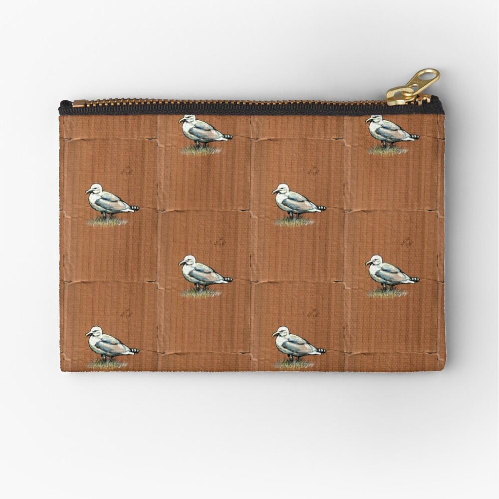 Gulls on Grass, #4 Zipper Pouch