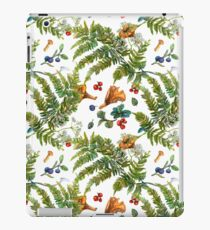 Forest ferns, berries and mushrooms iPad Case/Skin